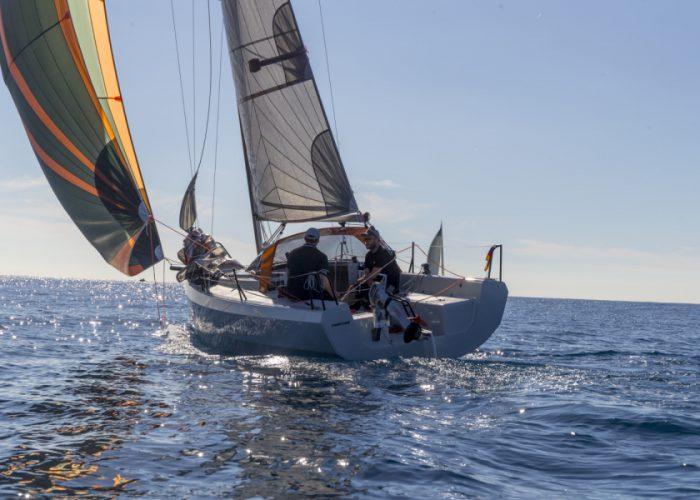 Waterkampioen Proefvaarten met de de genomineerde jachten voor de Eupese Boot van het Jaar in Santa Margherita die Ligure