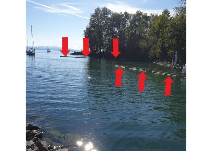 Vorsicht an der Hafeneinfahrt